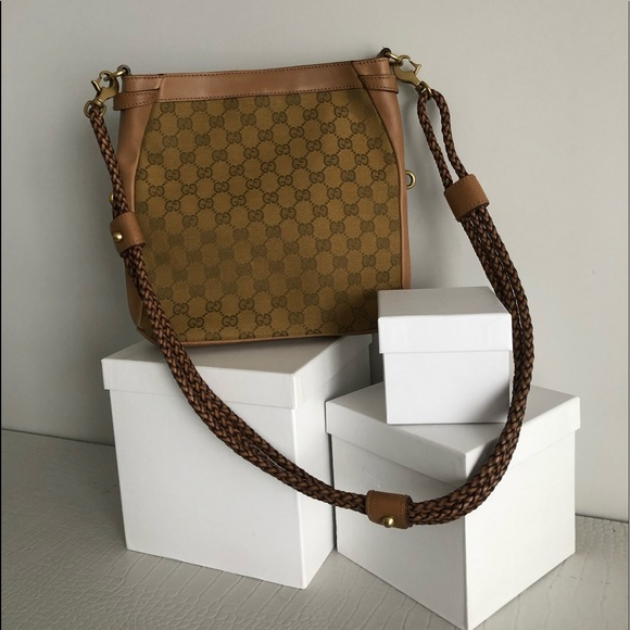 Gucci Bucket Bag with leather woven straps